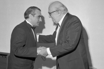 Martin Scorsese e Fellini al Festival del Cinema di Venezia 1990