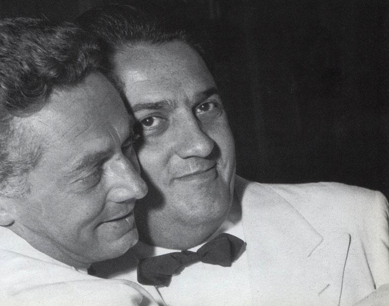 FELLINI E DINO RISI A SAN SEBASTIAN 1957