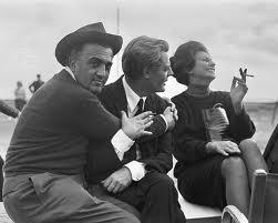 Fellini,Mastroianni e la Loren